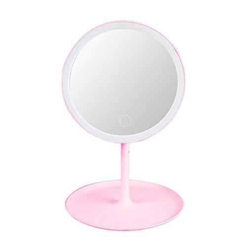 DUKAILIN Espejo de Escritorio Led Espejo de Maquillaje Dormitorio de Escritorio Espejo de Maquillaje portátil Plegable Femenino