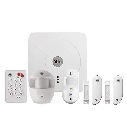 Yale 60-3200-EU0I-SR, Allarme per la casa gestito da Smartphone, 868MHz 2.4 GHz.