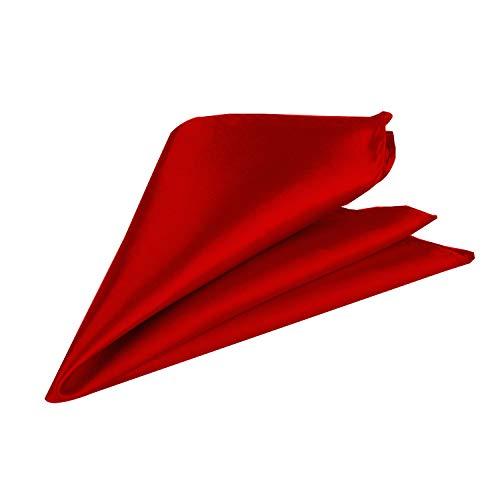 Trimming Shop Italien Carré Satin Mouchoir pour Tenue Habillée, Mariages, Bal, Célébration, Bal, Fêtes - Unisexe, Design Classique - Rouge Profond, 23
