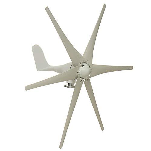 SISHUINIANHUA 5000W Windgenerator + Regler 12V / 24V / 48V 6 Blatt-Schwarz-Windkraftanlagen Horizontale Startseite Powers Windmühle Energieanlagen Lade,Weiß,48v