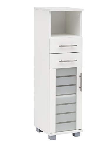 Schildmeyer Niko Midischrank 105650, weiß, 30,3/32,6/110,5 cm