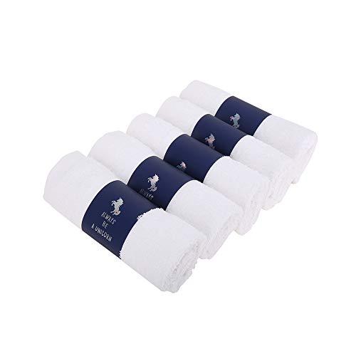 MultiBey - 5 toallas desechables de algodón con carga de viaje para hostelería doméstica, uso de cabello, cara, cuerpo