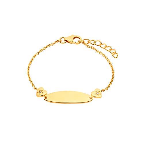 Prinzessin Lillifee 2029683 - Pulsera para niña, oro blanco, circonitas, 14 cm