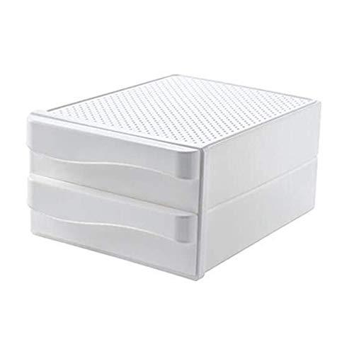 Caja de Almacenamiento de Escritorio de Oficina, Tipo de cajón, Datos de Archivos, Suministros de facturas, organización de estantes de plástico de Doble Capa