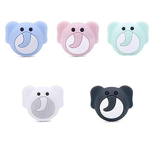 Chengkai 10pcs Silicona Koala Mordedor Beads DIY Animal Baby Shower Dentición Montessori Sensory Cartoon Jewelry Beads BPA Free-Elephant, China