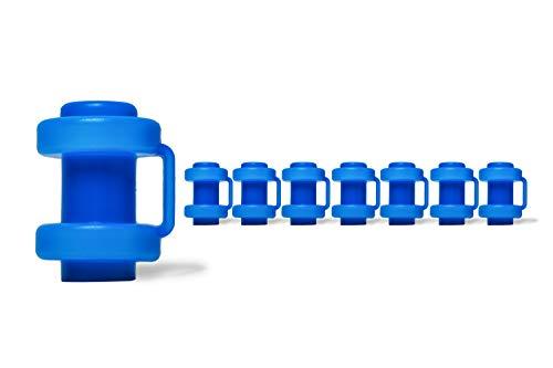 Ergonation® Trampolin Endkappen | Set mit 8 Abschlusskappen zur Befestigung des Sicherheitsnetzes an den Netzstangen des Trampolins (Blau)