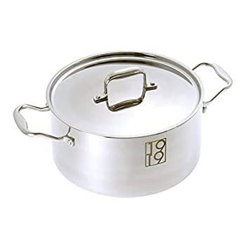 1919 Cookware Stainless Steel Stockpot with Lid  6 Quarts