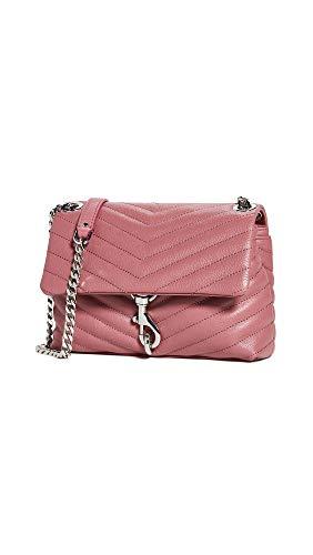 Rebecca Minkoff Women's Edie Crossbody Bag, Fig, Pink, One Size