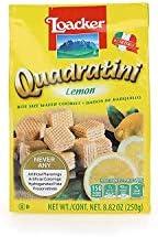 Loacker Quadratini Premium Lemon Wafer Cookies, 250g/8.82oz