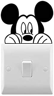 Mouse Peering Inspired Novelty Car Stickers/Light Switch Stickers Wall Decal (8cm x 6cm, Black)