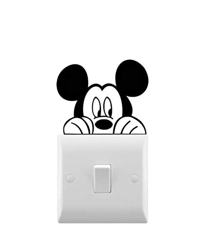 Mickey Mouse Peeking Inspired Novelty Car Stickers/Light Switch Stickers Wall Decal (Set of 2)