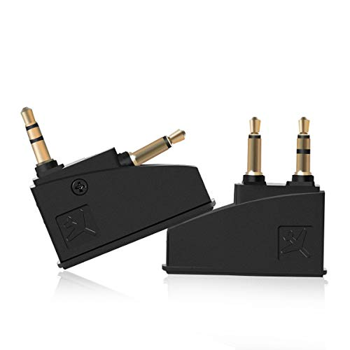 Lenink 2 Pack Airline Airplane Flight Headphone Adapter Converter Compatible with Bose QC2 QC3 QC15 QC20 QC25 AE2 Headphones