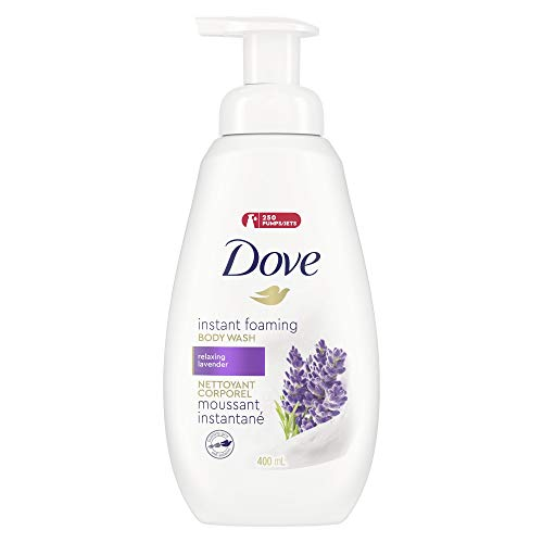 Dove Shower, Foam Relaxing Body Wash 13.5, Lavender