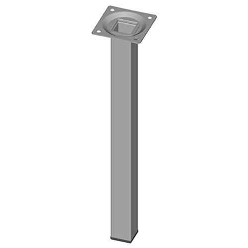 Element System 18133-00300 Set de 4 Gambe in Acciaio con Piastra di Ancoraggio, Bianco (Alluminio(, 30 cm, Set di 4 Pezzi