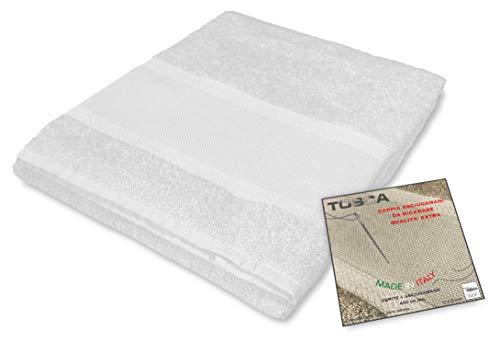 tex family Frottee-Handtuch-Set Tosca © Aida-Stoff zum Sticken, Kreuzstich 1+1 für Gesicht und Gäste, weiß