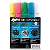 expo wet sticks - Sanford Wet Bright Sticks Wet-Erase Fluorescent Markers, Assorted Fluorescent Colors, (14075) (2-Pack of 5)