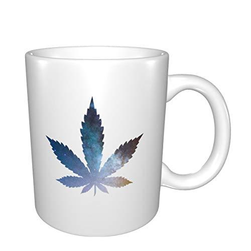 Taza de café divertida, cannabis de hierba de hierba y pipa, 325 ml, taza y taza de agua para oficina, hogar, escuela, el mejor regalo para amigos y familia