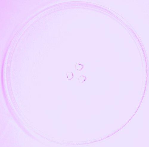 Mikrowellenteller / Drehteller / Glasteller für Mikrowelle # ersetzt Microstar Mikrowellenteller # Durchmesser Ø 34 cm / 340 mm # Ersatzteller # Ersatzteil für die Mikrowelle # Ersatz-Drehteller # OHNE Drehring # OHNE Drehkreuz # OHNE Mitnehmer