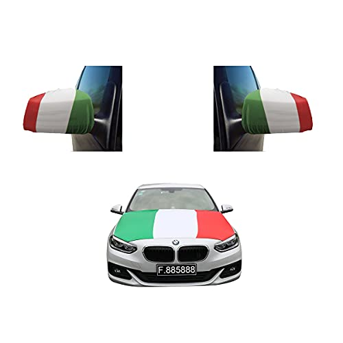 Sonia Originelli Fanset Auto EM Italien Italy Fußball Motorhaube Außenspiegel Flagge