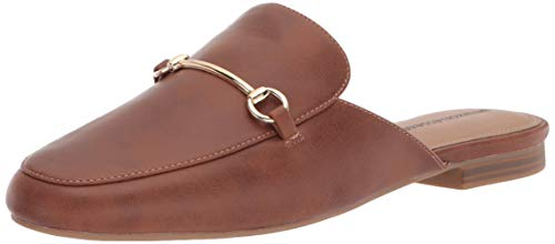 Amazon Essentials Women's Buckle Mule, Tan, 9.5 Wide US