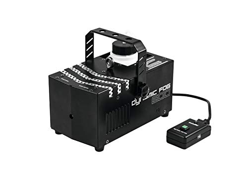 Eurolite Dynamic Fog 600 Nebelmaschine | Kompakte Nebelmaschine mit 600-W-Leistung mit Kabelfernbedienung | Ideal zur Inszenierung von Licht- und Laserstrahlen