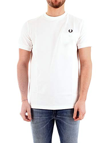 Fred Perry M8531 T-Shirt Uomo Bianco M