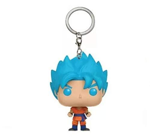 FUNKO POP - Llavero De Super Saiyan Son Goku Blue - Dragon Ball Super - Serie Anime Manga Comic - Coleccionable