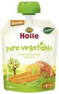 Holle baby food AG ホレ 有機キャロット&スイートポテト&エンドウ豆 (パウチ)ベジーバニー 90gx4個セット