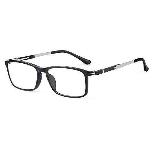 HQMGLASSES Gafas de Lectura de Mujeres HD Anti-Blue Light Computer Goggles, Marco Rectangular Ultraligero Lente de Resina Aspérica de la Lupa de Lupa Diopter +1.0 a +3.0,01,+1.0