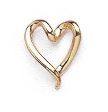 14ct Twisted Love Heart Slide Joyería Regalos para Mujeres