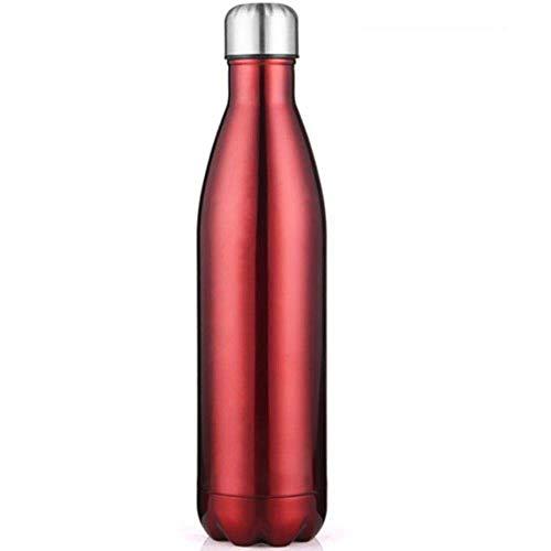 Botellas de agua 3501000ml Termos de acero de doble pared de acero Botella de acero Botella Termos Mantenga el frasco de vacío con aislamiento frío y caliente para el deporte, la plata, 350 ml