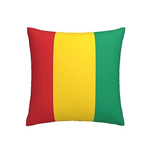 Kissenbezug mit Flagge von Guinea, quadratisch, dekorativer Kissenbezug für Sofa, Couch, Zuhause, Schlafzimmer, drinnen & draußen, niedlicher Kissenbezug 45,7 x 45,7 cm