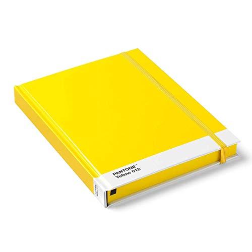 Pantone 012 - Cuaderno (tamaño grande, tapa dura, en blanco), color amarillo