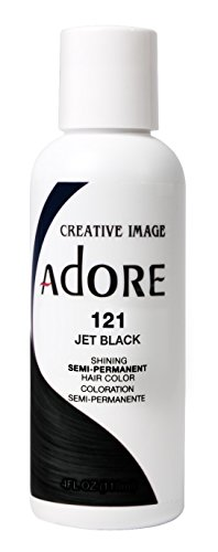 Adore Semi-Permanent Haircolor #121 Jet Black 4 Ounce (118ml) (2 Pack)