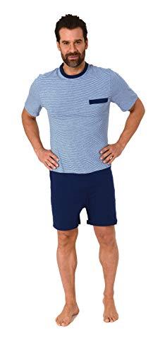 Normann Care Herren Pflegeoverall Kurzarm mit Reissverschluss am Rücken und Bein 181 171 90 504, Farbe:blau, Größe:M