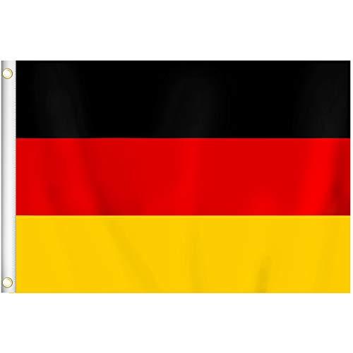 RYMALL 1 Stück 90 x 150 cm Deutschland Flagge,Deutsche Fahne,Germany National FlagBundes und Länderflagge aus wetterfestem Material mit Metallösen (DE 90 x 150 cm)