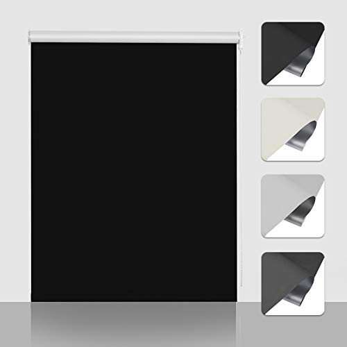 Isolant Thermique et R/ésistant aux Rayons Ultraviolets 2 Types de Fixation SBARTAR Store Enrouleur Occultant pour Fen/être 45 x 150 CM Beige Montage Facile sans Per/çage