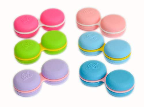 Sports Vision's Neu Macaroon Rosa Kontaktlinsenbehälter/Behälter für Einweichen CE-gekennzeichnet und FDA-zugelassen