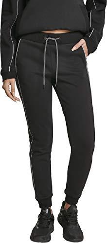 Urban Classics Jogginghose Ladies Reflective Sweatpants Pantalon De Sport, Noir (Black 00007), 38 (Taille Fabricant: Small) Femme