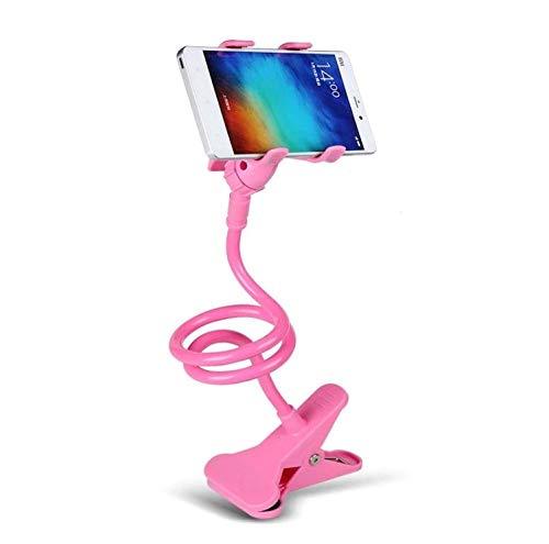 Supporto da scrivania Lazy per ASUS Zenfone Max PRO (M2) Smartphone Pinza Clip Universale Flessibile Regolabile (Rosa)