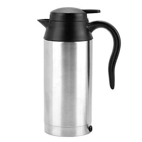 Hervidor de Agua de Coche de 24 V, hervidor de Agua portátil de 750 ml para Viaje, hervidor de Agua para camión con Enchufe para Encendedor de Cigarrillos para Beber té y café