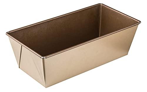 Zenker Brotbackform 30 cm MOJAVE GOLD, Backform aus Stahlblech, Brotform mit keramisch verstärkter Antihaftbeschichtung (Farbe: Mahagoni/Gold), Menge: 1 Stück