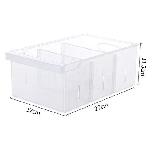 POUPDM Aufbewahrungsbox für die Küche Aufbewahrungsbox für den Kühlschrank Aufbewahrungsboxen aus Kunststoff Haushaltsfach Rechteckige Lebensmittel-Gefriertruhe Ei Aufbewahrungsbox für die Küche, Bild