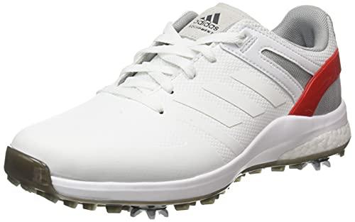 ADIDAS EQT, Zapatos de Golf Hombre, Blanco/Rojo, 42 2/3 EU