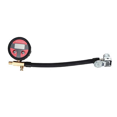 Medidor de presión de neumáticos, 200 psi LCD Pantalla digital Calibrador de neumáticos Calibrador de presión Sistema de monitoreo de herramientas con 4 unidades