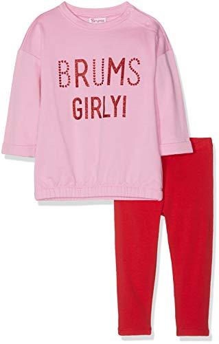 Brums Brums Baby-Mädchen Tuta 2 Pezzi Logo: Girocollo + Pantalone Felpina Jogginganzug, Pink (Rosa Scuro 01 030), 68 (Herstellergröße: 6M) (2er Pack)