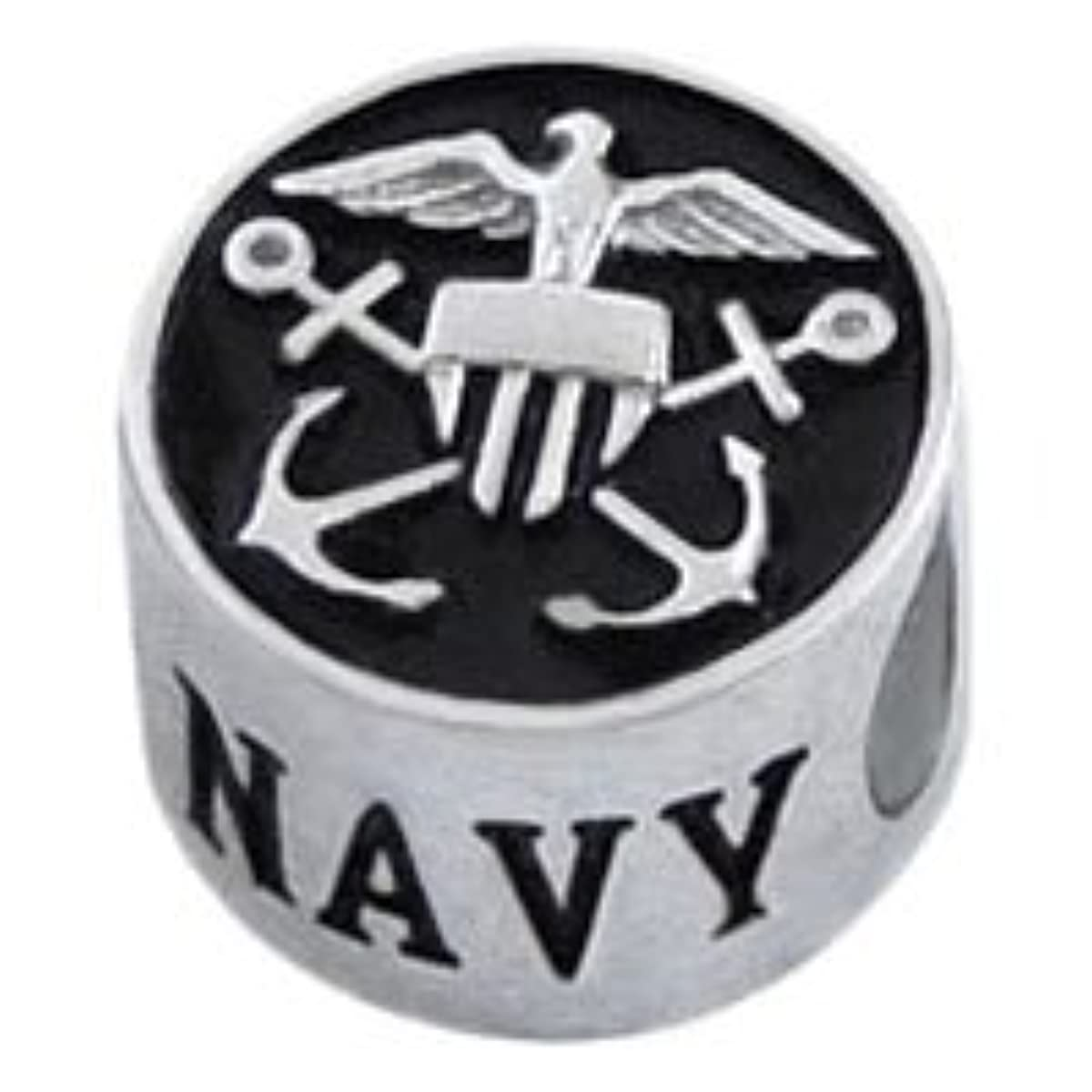 NAVY United States Military Sterling Silver 925 European Style Charm Bead