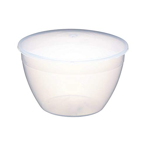 KitchenCraft Large Plastic Pudding Basin with Lid, 1.7 Litres (3 Pints)