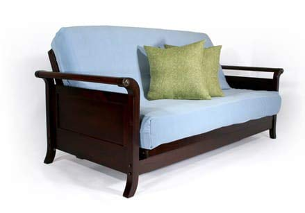 Read About Strata Furniture Lexington Dark Cherry Queen Wall Hugger Futon Frame (Pre-Built)
