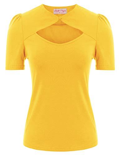 Belle Poque BP862 - Camiseta de manga corta para mujer, diseño vintage de los años 50, de algodón Bp862-5. XXL